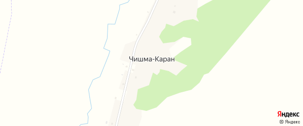 Улица Чишма Каран на карте деревни Чишмы-Каран с номерами домов
