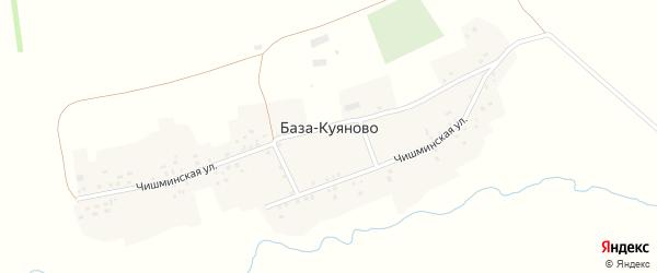 Чишминская улица на карте деревни База-Куяново с номерами домов