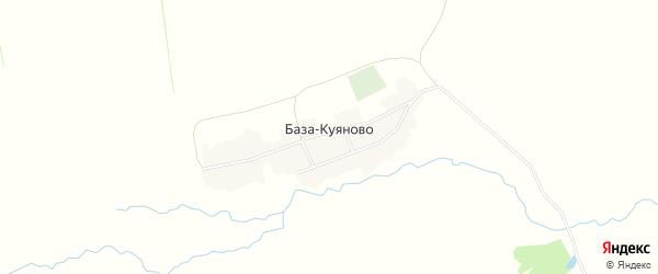 Карта деревни База-Куяново в Башкортостане с улицами и номерами домов