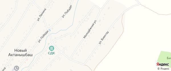 Молодежная улица на карте села Нового Актанышбаша с номерами домов