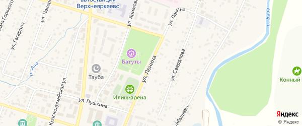 Улица Ленина на карте села Верхнеяркеево с номерами домов