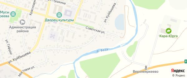 Улица Куйбышева на карте села Верхнеяркеево с номерами домов