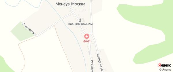 Заречная улица на карте села Менеуза-Москвы с номерами домов