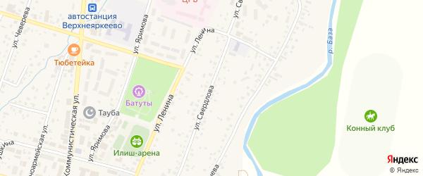 Улица Свердлова на карте села Верхнеяркеево с номерами домов