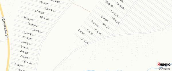 Уфимская 4-я улица на карте Уфы с номерами домов