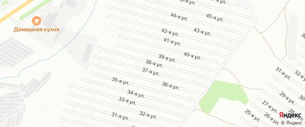 38-я улица на карте СНТ Восхода НГДУ с номерами домов