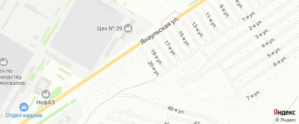 20-я улица на карте СНТ Буровика с номерами домов