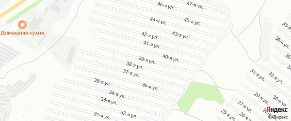39-я улица на карте СНТ Восхода НГДУ с номерами домов