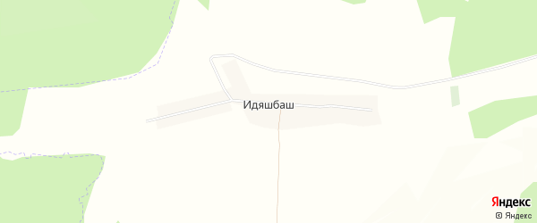 Карта деревни Идяшбаша в Башкортостане с улицами и номерами домов