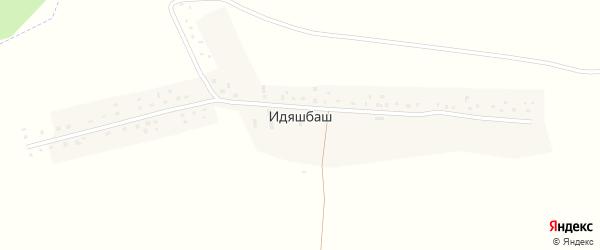 Лесная улица на карте деревни Идяшбаша с номерами домов