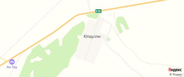 Карта деревни Юлдузлы в Башкортостане с улицами и номерами домов