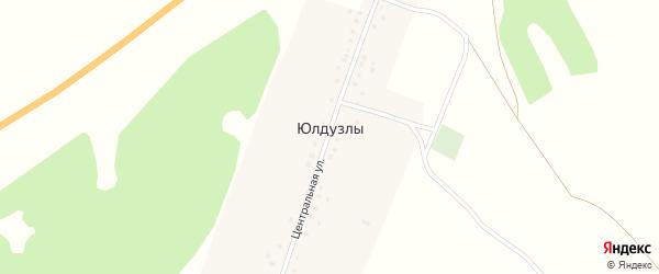 Центральная улица на карте деревни Юлдузлы с номерами домов