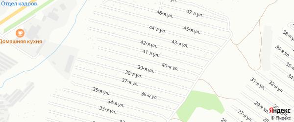 40-я улица на карте СНТ Восхода НГДУ с номерами домов