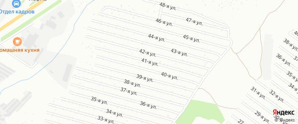41-я улица на карте СНТ Восхода НГДУ с номерами домов
