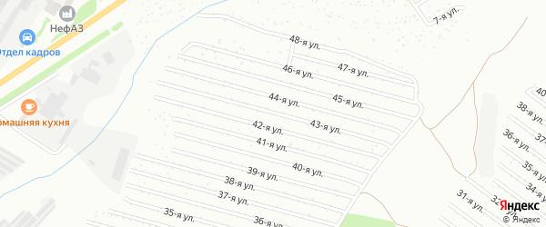 43-я улица на карте СНТ Восхода НГДУ с номерами домов