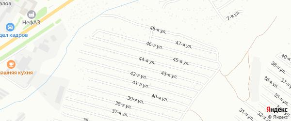44-я улица на карте СНТ Восхода НГДУ с номерами домов