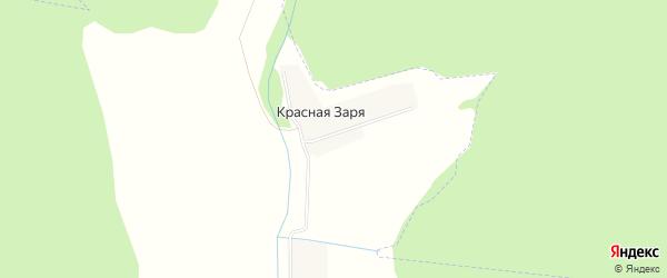 Карта деревни Красной Зари в Башкортостане с улицами и номерами домов