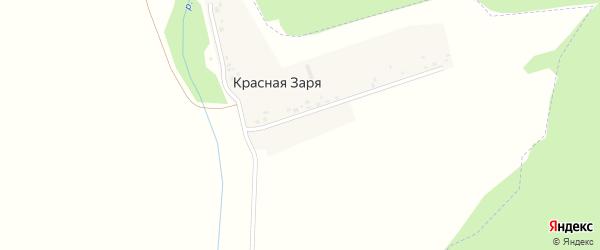 Улица Красная Заря на карте деревни Красной Зари с номерами домов