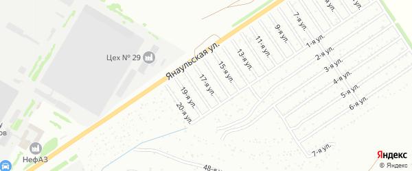 17-я улица на карте СНТ Буровика с номерами домов