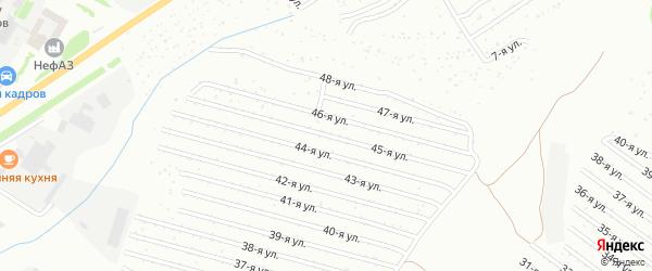 45-я улица на карте СНТ Восхода НГДУ с номерами домов