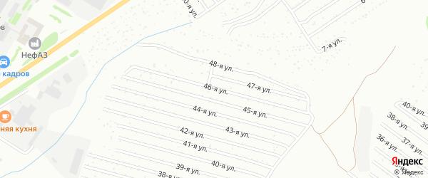 46-я улица на карте СНТ Восхода НГДУ с номерами домов