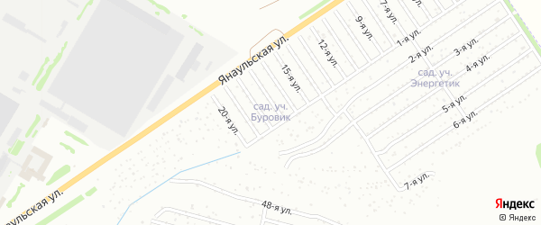 29-я улица на карте СНТ Буровика с номерами домов
