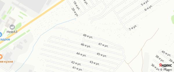 48-я улица на карте СНТ Восхода НГДУ с номерами домов