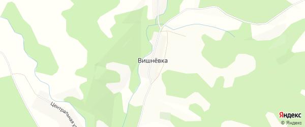 Карта деревни Вишневки в Башкортостане с улицами и номерами домов