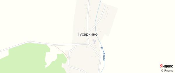 Центральная улица на карте деревни Гусаркино с номерами домов
