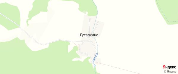 Карта деревни Гусаркино в Башкортостане с улицами и номерами домов
