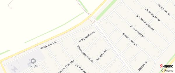 Озерный переулок на карте села Нижнеяркеево с номерами домов