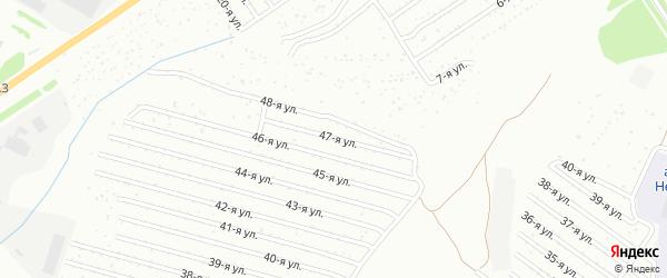 47-я улица на карте СНТ Восхода НГДУ с номерами домов