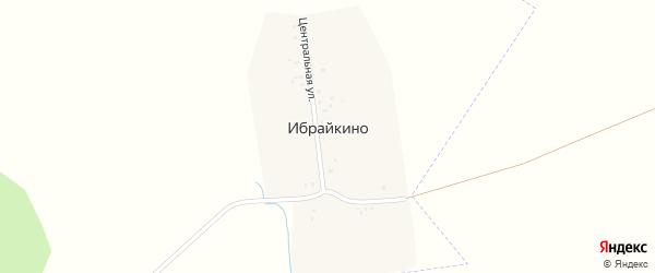 Центральная улица на карте деревни Ибрайкино с номерами домов