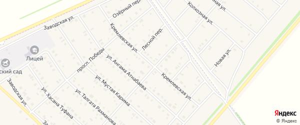 Кремлевская улица на карте села Нижнеяркеево с номерами домов