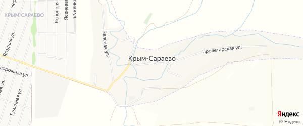 Карта деревни Крым-Сараево города Нефтекамска в Башкортостане с улицами и номерами домов