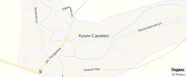 Новый переулок на карте деревни Крым-Сараево с номерами домов