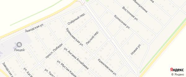 Лесной переулок на карте села Нижнеяркеево с номерами домов
