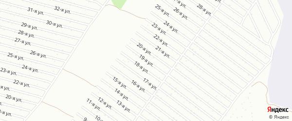 19-я улица на карте СНТ Полета с номерами домов