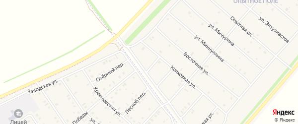 Улица Бабича на карте деревни Верхнечерекулево с номерами домов