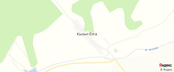 Карта деревни Кызыла-Елги в Башкортостане с улицами и номерами домов