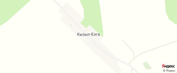 Луговая улица на карте деревни Кызыла-Елги с номерами домов