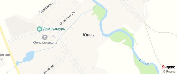 Садовая улица на карте села Юнны с номерами домов
