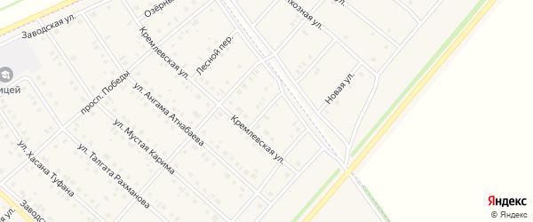 Луговой переулок на карте села Нижнеяркеево с номерами домов