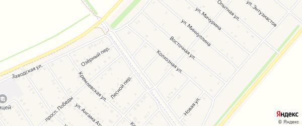 Улица Абсалямова на карте деревни Верхнечерекулево с номерами домов