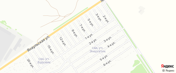 7-я улица на карте СНТ Буровика с номерами домов
