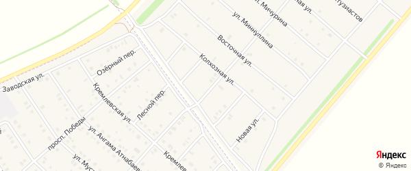 Улица Космонавтов на карте деревни Верхнечерекулево с номерами домов