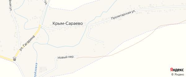 Школьная улица на карте деревни Крым-Сараево с номерами домов