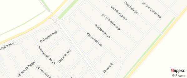 Колхозная улица на карте деревни Верхнечерекулево с номерами домов
