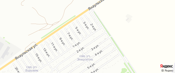 4-я улица на карте СНТ Буровика с номерами домов