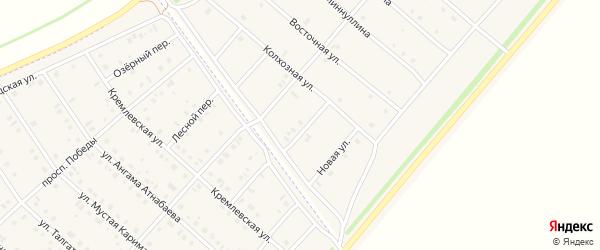 Ключевская улица на карте деревни Верхнечерекулево с номерами домов